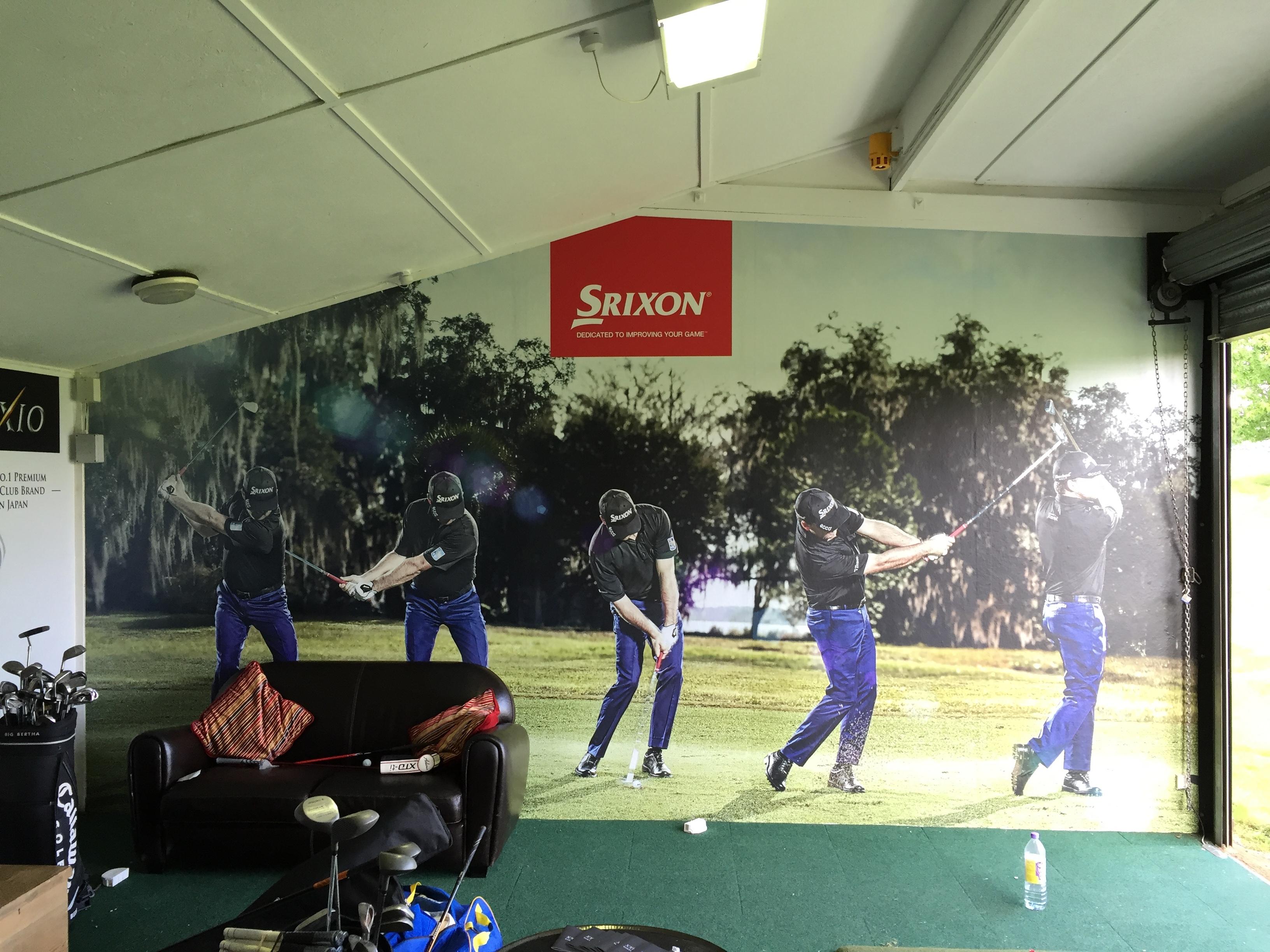 Self adhesive wall wrap srixon fitting room b2b graphics for Room wraps