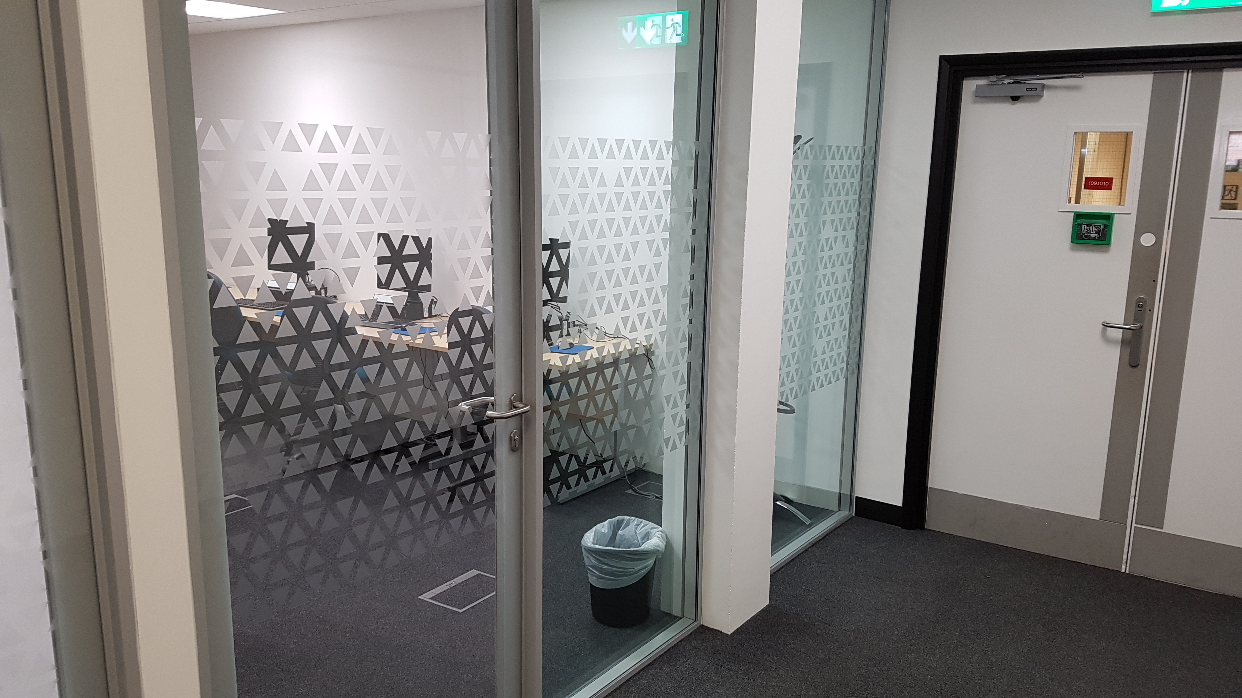Self Adhesive Frosted Window Graphics Oxford B2b Graphics