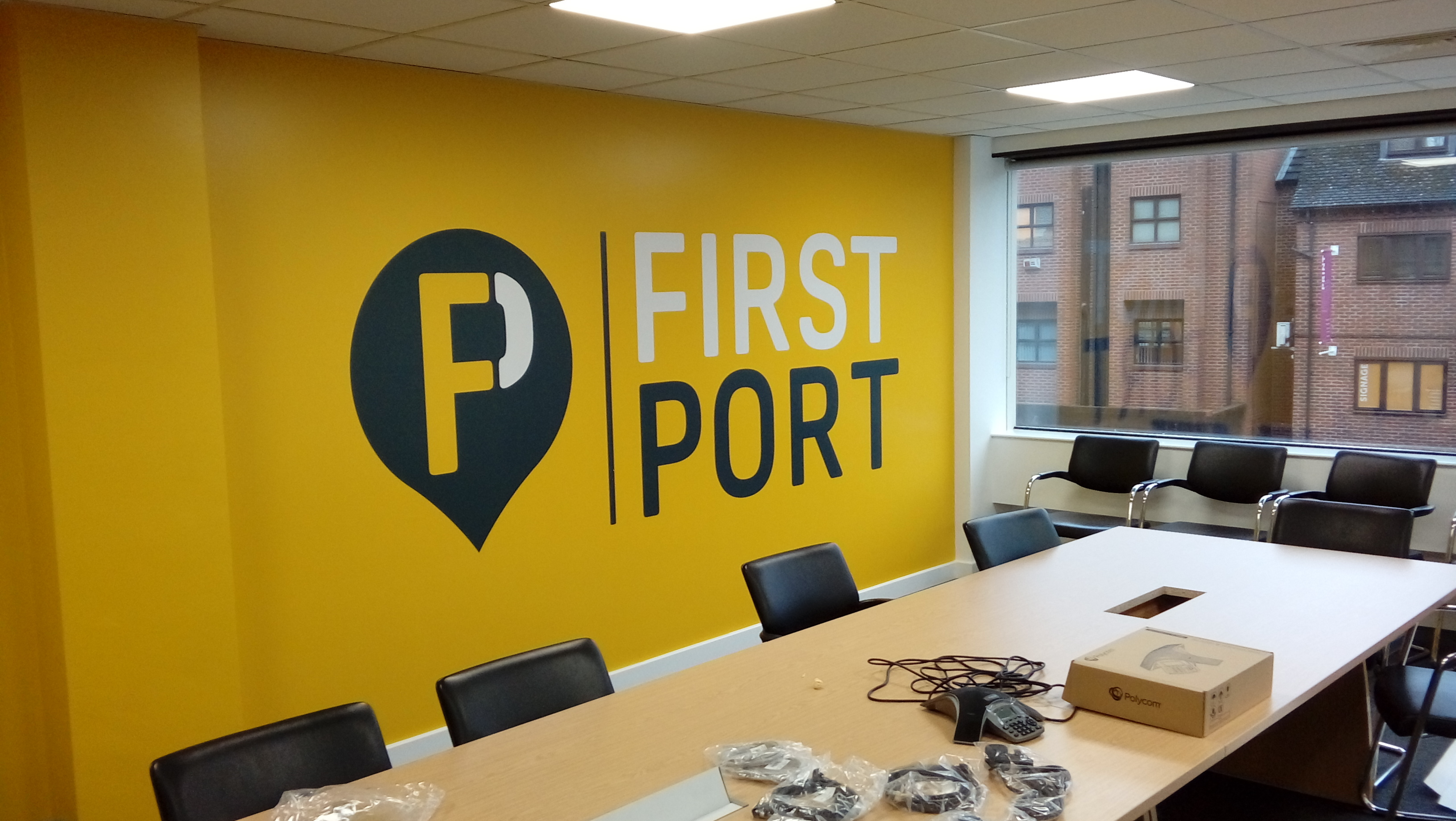 Self Adhesive Wall Decals - First Port | B2B Graphics