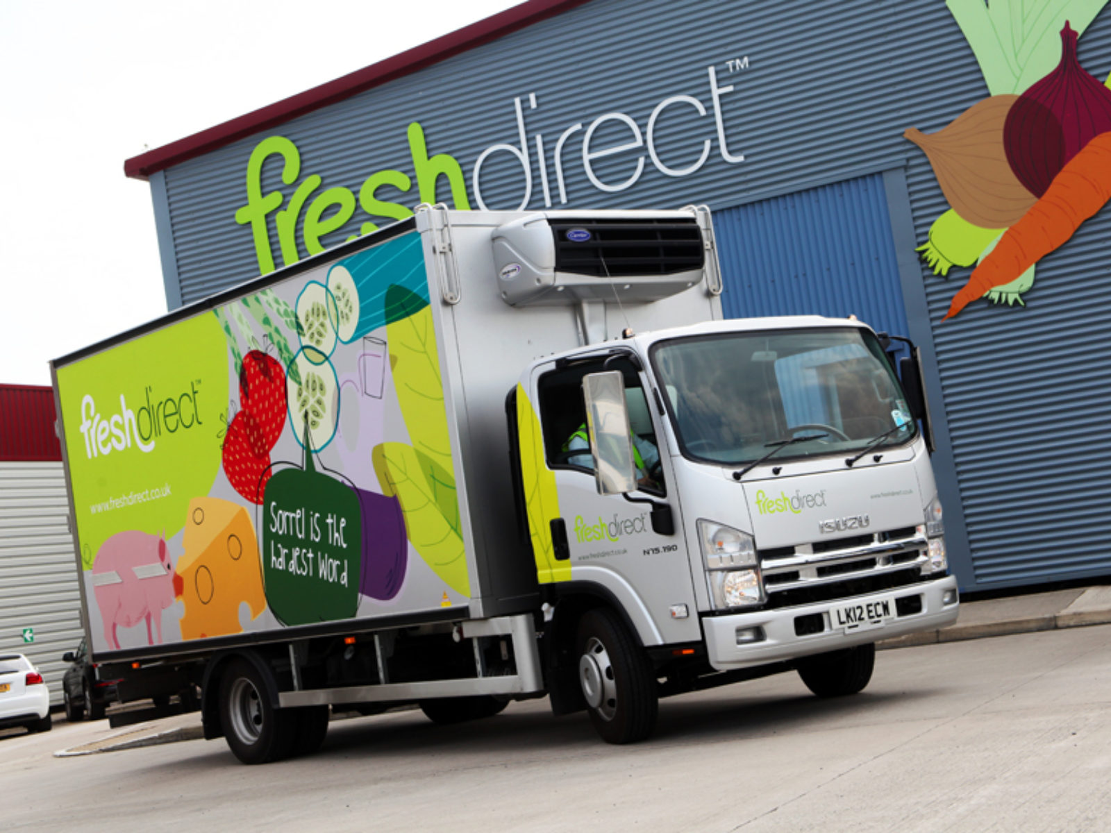 Self Adhesive Fleet Vehicle Graphics Fresh Direct B2b