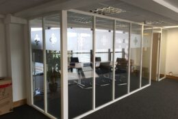 Office Branding Window Graphics Frosted Vinyl Hellios 01