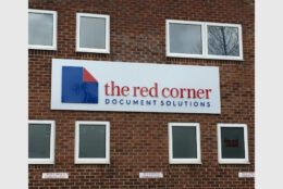 Outdoor Signage Tray Sign Aluminium Composite Acrylic The Red Corner 01